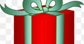 Christmas Gift Wrapping - Green Clip Art Red Ribbon Material Property PNG