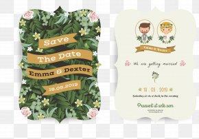 Cartoon Wedding Invitation Design - Marriage Engagement Wedding Invitation PNG