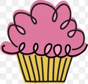 Doodles - Cupcake Birthday Cake Clip Art PNG