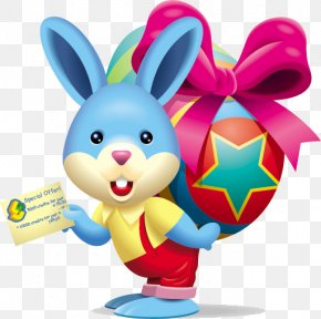 Easter Bunny - Easter Bunny Happiness Easter Egg Clip Art PNG