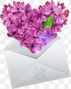 Exquisite Heart-shaped Orchid Envelope - Lilac Clip Art PNG