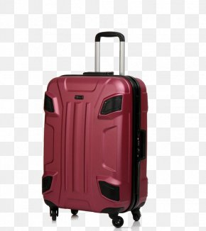Red Suitcase - Hand Luggage Suitcase Baggage Trolley Backpack PNG