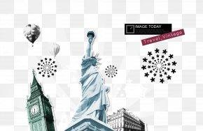 Hand Painted Statue Of Liberty World Landmark Balloon - Statue Of Liberty Christ The Redeemer World Landmark PNG