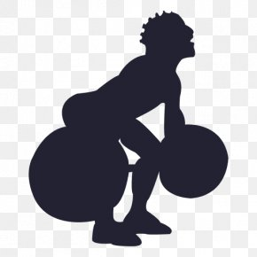 Silhouette - Physical Fitness Silhouette Weight Training Exercise Bodybuilding PNG
