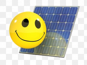 Smile Power Generation Photovoltaic Panels - Solar Panel Photovoltaics Solar Power Smiley Solar Energy PNG