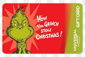 Christmas - How The Grinch Stole Christmas! Gift Card Christmas Card PNG
