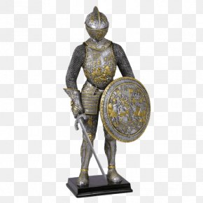 Medieval Shield - Middle Ages Parade Armour Of Henry II Of France Knight Bronze Sculpture Figurine PNG