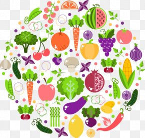 Fresh Vegetables Cartoon Ring - Vegetarian Cuisine Vegetable Breakfast Nutrition Food PNG