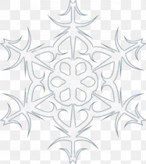 Cartoon Painted Light Blue Snowflake Decoration - Baby Blue Cartoon PNG