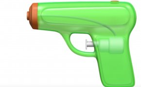 Hand Gun - Water Gun Emoji Firearm Apple Pistol PNG