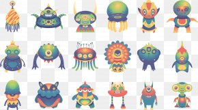 Cute Monster Illustration - Behance Model Sheet Designer Illustration PNG