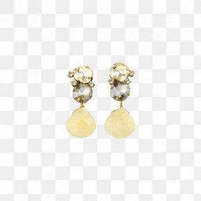 Yellow Drop - Pearl Earring Pandora Jewellery Charm Bracelet PNG