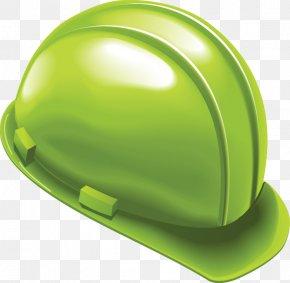 Painted Green Helmet Design - Helmet Hard Hat Laborer PNG