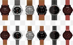 Vector Leather Strap Watches - Watch Strap Watch Strap Quartz Clock PNG