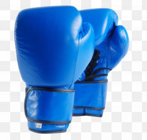 Boxing Gloves - Boxing Glove Punch Blue PNG