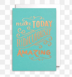 Amazing Card - Paper Greeting & Note Cards Turquoise Font Rectangle PNG