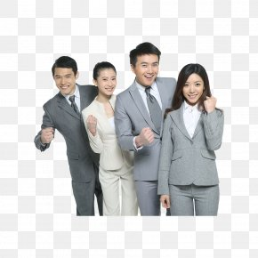 Smiling Business White-collar Workers - White-collar Worker Business JD.com Resource Service PNG