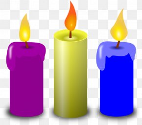 Church Candles Clipart - Birthday Cake Candle Clip Art PNG