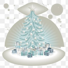 Snowflake Christmas Tree - Christmas Ornament Christmas Tree Christmas Decoration Clip Art PNG