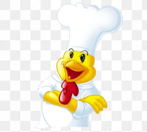 Chef Cock - Chicken Rooster Cartoon PNG