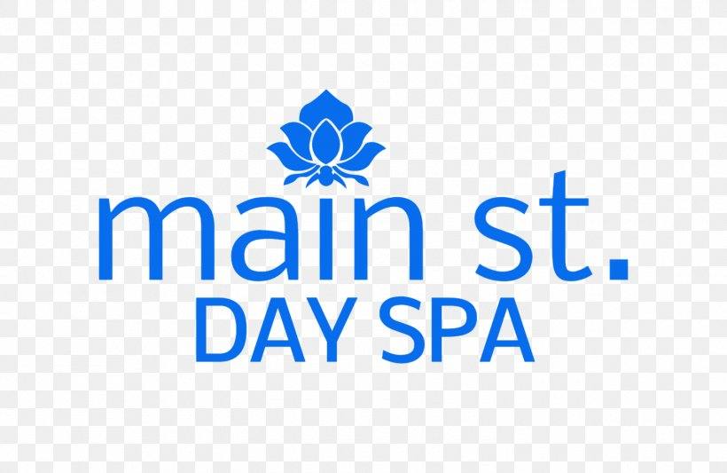Main St. Day Spa Logo Brand Organization Font, PNG, 1500x975px, Logo, Area, Blue, Brand, Day Spa Download Free