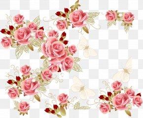 Pink Roses - Garden Roses Pink Flower PNG
