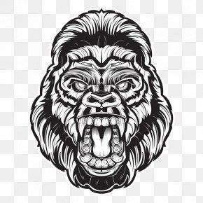 Gorilla Vector - Gorilla Drawing PNG