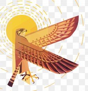 Vector Sun Eagle - Sun Euclidean Vector PNG