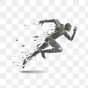 Running Man - Running Track And Field Athletics Clip Art PNG
