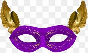 Purple Carnival Mask Clip Art - Mask Carnival Masquerade Ball Costume PNG