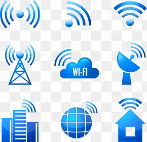 Vector Hand-painted WIFI Signal - Wi-Fi Signal Wireless Computer Network Icon PNG
