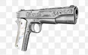Engraved - M1911 Pistol Firearm Gun Weapon Revolver PNG