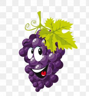 Cartoon Grapes - Wine Must Grape Cartoon Clip Art PNG