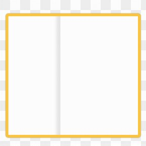 Cartoon Books - Paper Picture Frame Yellow Pattern PNG