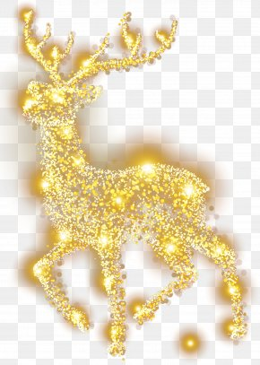 Elk Cool Christmas Decoration Material - Reindeer Elk Christmas Decoration PNG