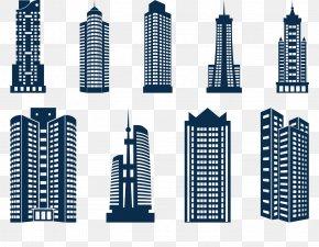 Skyscrapers Icon - Skyscraper Building Skyline PNG