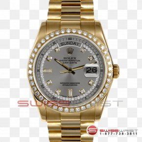 Watch - Platinum Watch Rolex Day-Date Colored Gold PNG