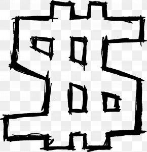 Dollar Sign - Dollar Sign Currency Symbol Drawing Clip Art PNG