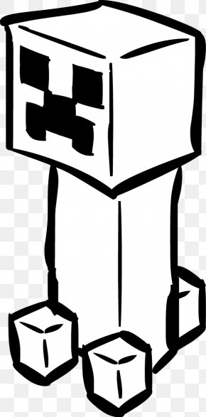 Gold Miner Cartoon - Minecraft Creeper Coloring Book Drawing Clip Art PNG