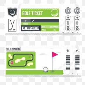 Golf Tickets - Ticket Golf Art PNG