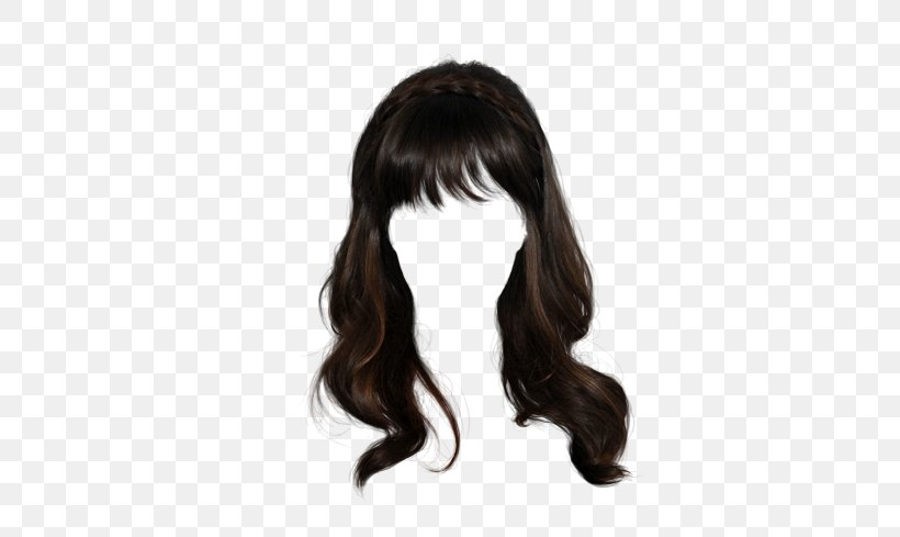 Fabulous Wig Hairstyle Long Hair Png 400X489Px Wig Bangs Barrette Natural Hairstyles Runnerswayorg