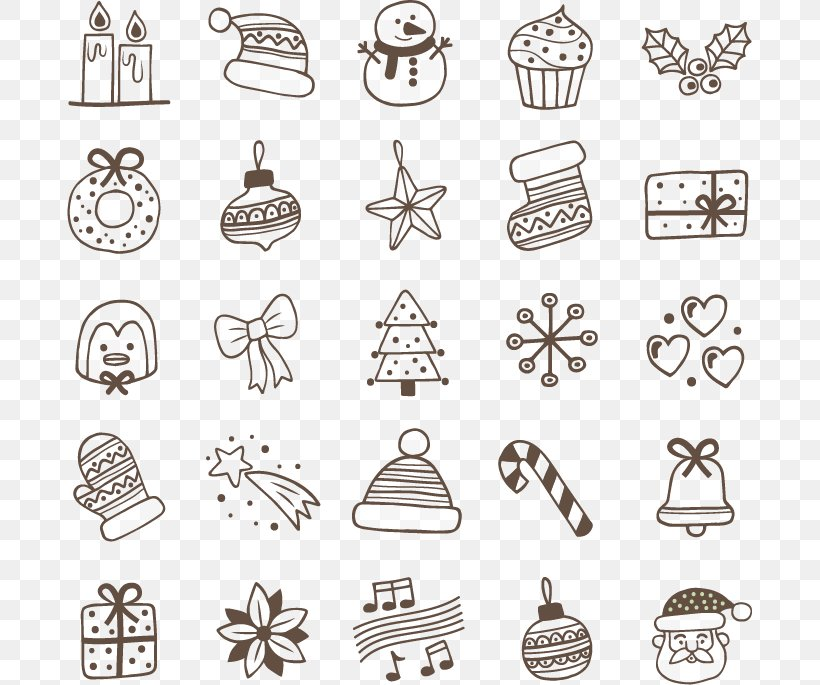 Christmas Eve, PNG, 685x685px, Christmas, Black And White, Cake, Candle, Chemical Element Download Free