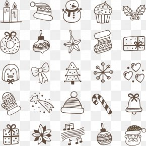 Hand Drawn Christmas Elements - Christmas Eve PNG