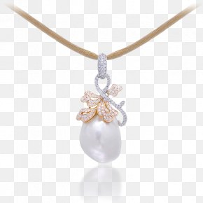 Necklace - Pearl Earring Charms & Pendants Necklace Jewellery PNG