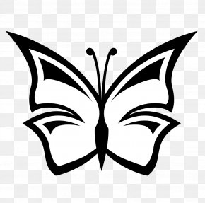 Black And White Snowflake Clipart - Butterfly Black And White Clip Art PNG