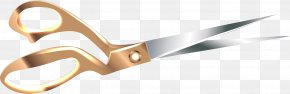 Vector Hand-painted Gold Scissors - Scissors Euclidean Vector Computer File PNG
