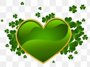 St Patricks Day Heart With Shamrock PNG Clipart - Saint Patrick's Day Ireland St. Patrick's Day Shamrocks Clip Art PNG