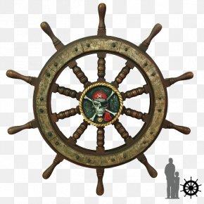 Pirate Ship - Ship's Wheel Steering Wheel Rudder PNG