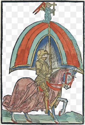 Vector Umbrella Support Soldiers - Middle Ages Peace And Truce Of God Knight PNG