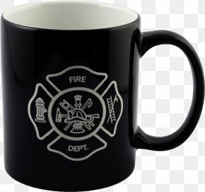 Mug - Mug Glass Coffee Cup Firefighter PNG